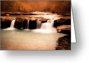 Tamyra Ayles Greeting Cards - Sunset on Kings River Greeting Card by Tamyra Ayles