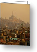 Middle East Greeting Cards - Sunset On Old City, Cairo Greeting Card by Tom Horton, Further To Fly Photography