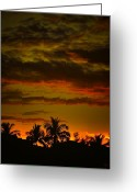 Sanibel Island Greeting Cards - Sunset on Sanibel Island I Greeting Card by Jeff Breiman