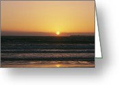 Atlantic Beaches Greeting Cards - Sunset On The Eastern Shore Greeting Card by Heather Perry