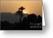 Nile River Greeting Cards - Sunset On The Nile River Greeting Card by Bob Christopher