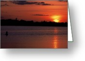 Most Photo Greeting Cards - Sunset on Wayzata Bay Greeting Card by Richard Johnson
