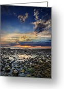 New England Sunset Greeting Cards - Sunset Over Bound Brook Island Greeting Card by Rick Berk