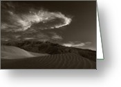Twilight Greeting Cards - Sunset Over Sand Dunes Death Valley Greeting Card by Steve Gadomski