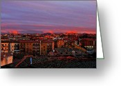 Espana Greeting Cards - Sunset over Segovia ... Greeting Card by Juergen Weiss