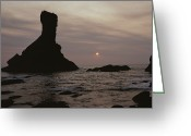 Shi Greeting Cards - Sunset Over Shi Shi Beach Greeting Card by Sam Abell