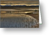 Mammoth. Greeting Cards - Sunset Over The Alkali Ponds Near Mammoth Lakes, California, Usa, October 2010 Greeting Card by Bill Wight