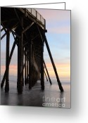 San Simeon Greeting Cards - Sunset Pier 3 Greeting Card by Bob Christopher