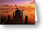Carolina Greeting Cards - Sunset Sky Greeting Card by Maria Jaeger Photography