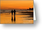 Al Powell Photography Greeting Cards - Sunset Stroll Greeting Card by Al Powell Photography USA