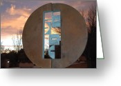 Sunset Scenes. Digital Art Greeting Cards - Sunset Thru Art Greeting Card by Rob Hans
