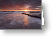 California Greeting Cards - Sunset Tides Greeting Card by Mike  Dawson