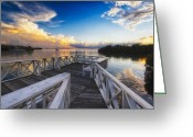 Bay Islands Greeting Cards - Sunset to Relax Greeting Card by George Oze