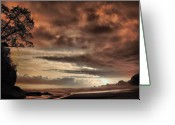 Beautiful Image Greeting Cards - sunset Trip Greeting Card by Mario Bennet