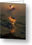 Whirls Greeting Cards - Sunsets Colorful Kisses Greeting Card by Julie Lueders