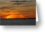 Sunset Framed Prints Greeting Cards - Sunsey Bay 43 Greeting Card by Joyce StJames