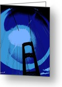Florida Bridge Digital Art Greeting Cards - Sunshine Bridge Greeting Card by Ed Smith