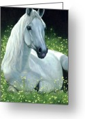 Equines Painting Greeting Cards - Sunshine Greeting Card by Liz Mitten Ryan