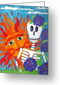 Calaveras Greeting Cards - Sunshine Makes Me Happy Greeting Card by Robin Westenhiser