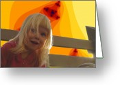 Poser Greeting Cards - Sunshine Makes Me Happy Greeting Card by Ron Bissett