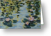 Lily Pad Greeting Cards Greeting Cards - Sunshines Babies Greeting Card by Zanobia Shalks