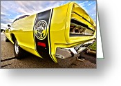 Stripes Greeting Cards - Super Close Super Bee  Greeting Card by Gordon Dean II