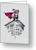 Stencil Greeting Cards - Super K Greeting Card by Budi Satria Kwan