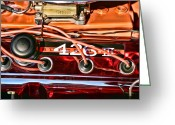 Rattler Digital Art Greeting Cards - Super Stock SS 426 III HEMI Motor Greeting Card by Gordon Dean II