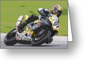 Ama Greeting Cards - Superbike Racer II Greeting Card by Clarence Holmes
