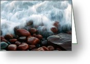 The Rocks Greeting Cards - Superior on the Rocks Greeting Card by Bill Morgenstern