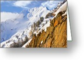 Vacationers Greeting Cards - Superior Peak in the Utah Wasatch Mountains  Greeting Card by Utah Images
