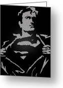 Superman Digital Prints Greeting Cards - Superman Stripping Greeting Card by Robert Margetts