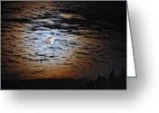Howl Greeting Cards - Supermoon Greeting Card by Brian Mollenkopf