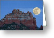 Full Moons Greeting Cards - Supermoon Greeting Card by Ellen Henneke