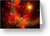 Dimension Greeting Cards - Supernova Greeting Card by Corey Ford