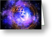 Portal Greeting Cards - Supernova Remnant Greeting Card by Corey Ford