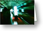 Vision Digital Art Greeting Cards - Supersonic Greeting Card by Andrew Paranavitana