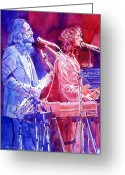 Music Legends Greeting Cards - Supertramp Greeting Card by David Lloyd Glover