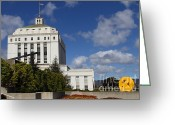 Oakland California Greeting Cards - Supreme Court of California . County of Alameda . Oakland California View From Oakland Museum . 7D13 Greeting Card by Wingsdomain Art and Photography