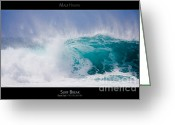 Storm Posters Greeting Cards - Surf Break - Maui Hawaii Posters Series Greeting Card by Denis Dore