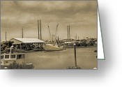 Market Greeting Cards - Surf City North Carolina Greeting Card by East Coast Barrier Islands Betsy A Cutler