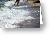 Crashing Waves Greeting Cards - Surf Crashing Greeting Card by Lisa Knechtel