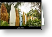 Sunset Posters Greeting Cards - Surf Fence - Maui Hawaii Posters Series Greeting Card by Denis Dore
