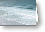 Cornwall Greeting Cards - Surf Lesson Greeting Card by Thenakedsnail