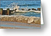 Surf Photos Art Greeting Cards - Surf Stir - Jersey Shore Greeting Card by Angie McKenzie
