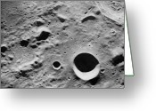 Moon Surface Greeting Cards - Surface Of The Moon, Close-up Greeting Card by Chad Baker/NASA