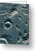 Moon Surface Greeting Cards - Surface Of The Moon Greeting Card by Stockbyte