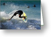 Dana Point Greeting Cards - Surfer Greeting Card by Carlos Caetano