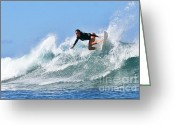 Bikini Greeting Cards - Surfer Girl at Bowls 5 Greeting Card by Paul Topp