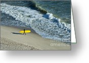 Surf Lifestyle Greeting Cards - Surfer  Greeting Card by John Greim